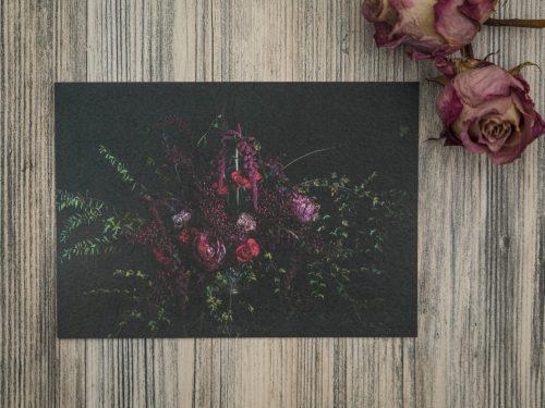 taidepostikortti kukkanen
