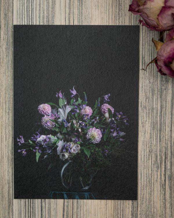 kukkapostikortti